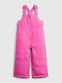 갭 여아용 푸퍼 팬츠 GAP Toddler ColdControl Max Puffer Bib,happy pink