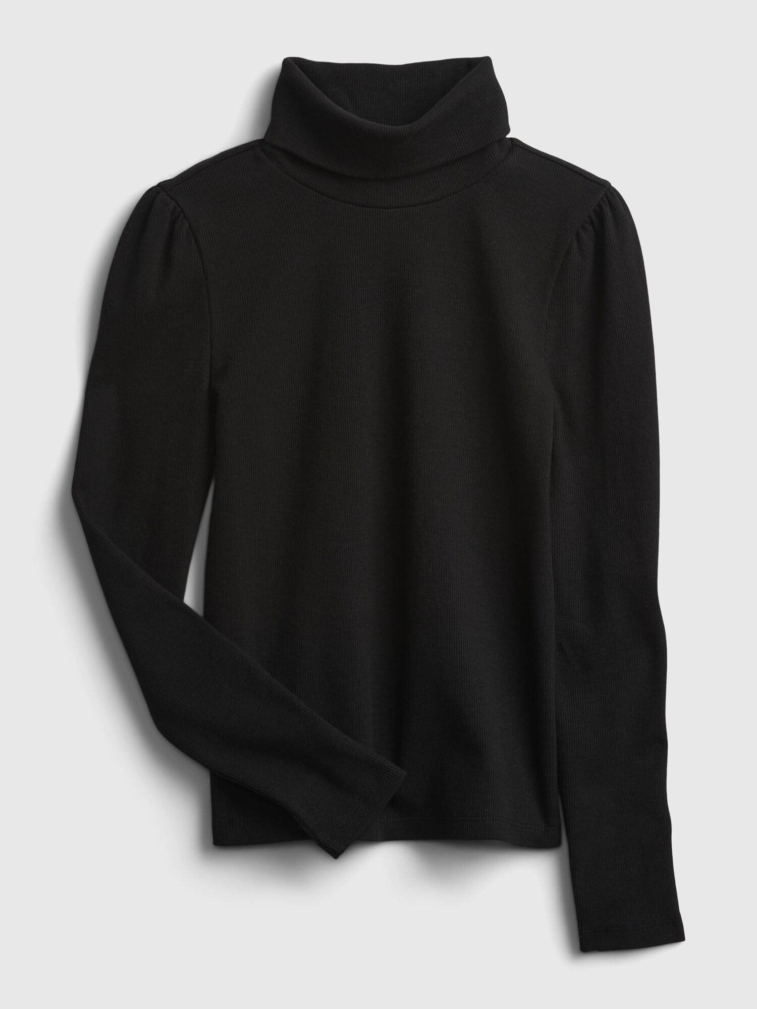 リブタートルネックtシャツ (キッズ)