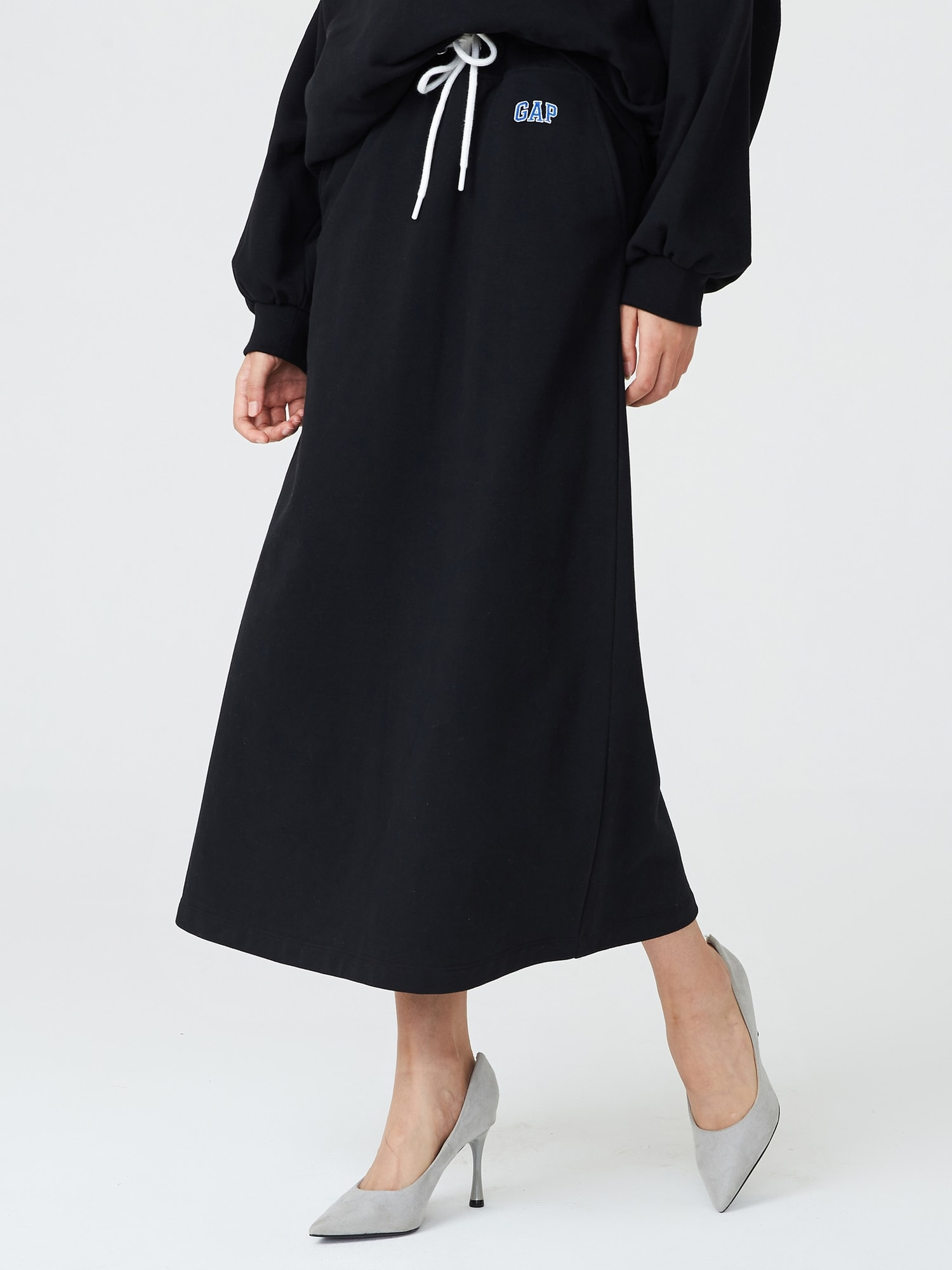 マキシ フレンチテリー スカート
