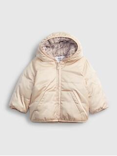 갭 여아용 푸퍼 자켓 GAP Baby ColdControl Max Puffer Jacket,metallic frost beige