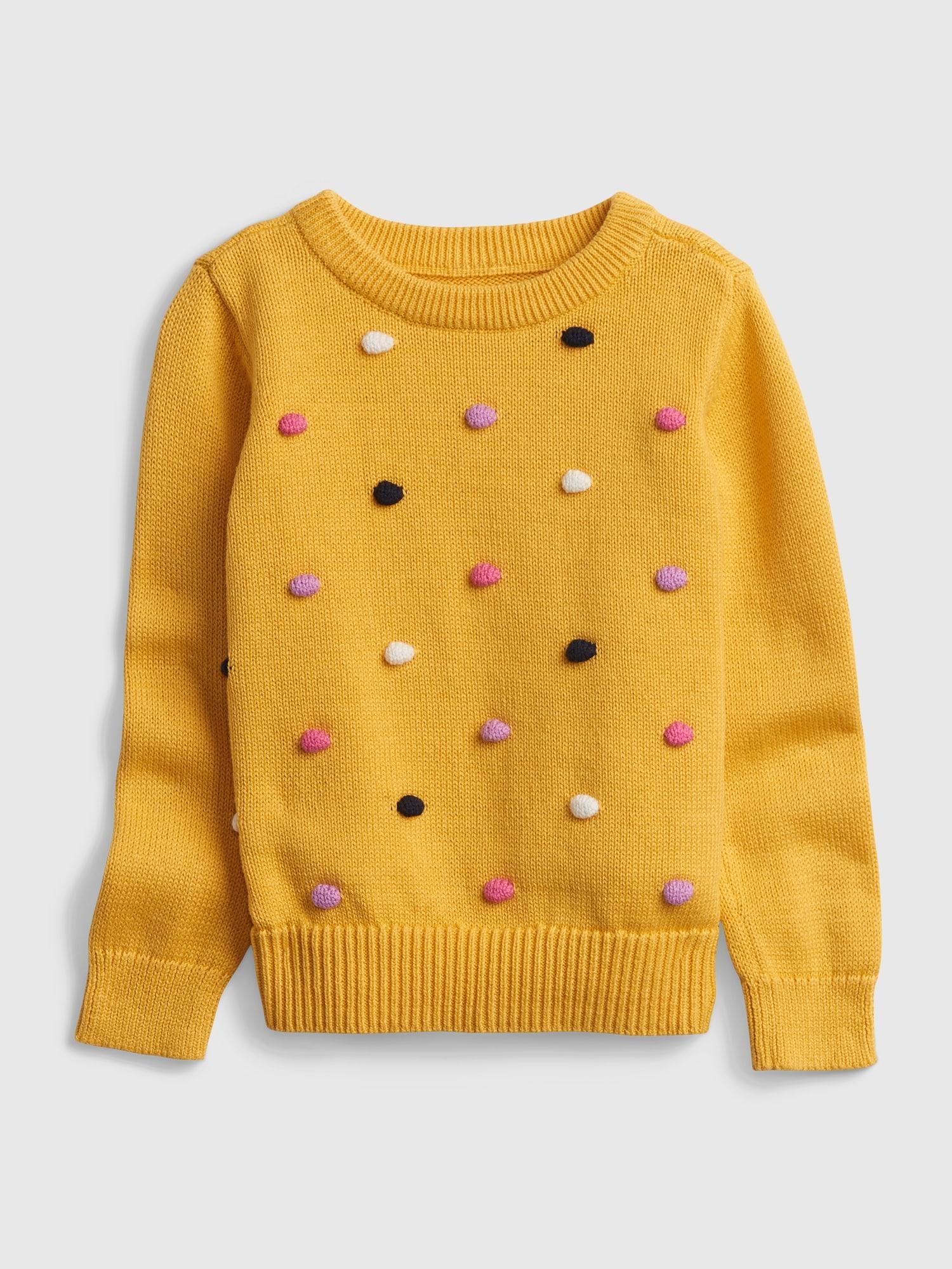 ポンポン編み ドット セーター (幼児)