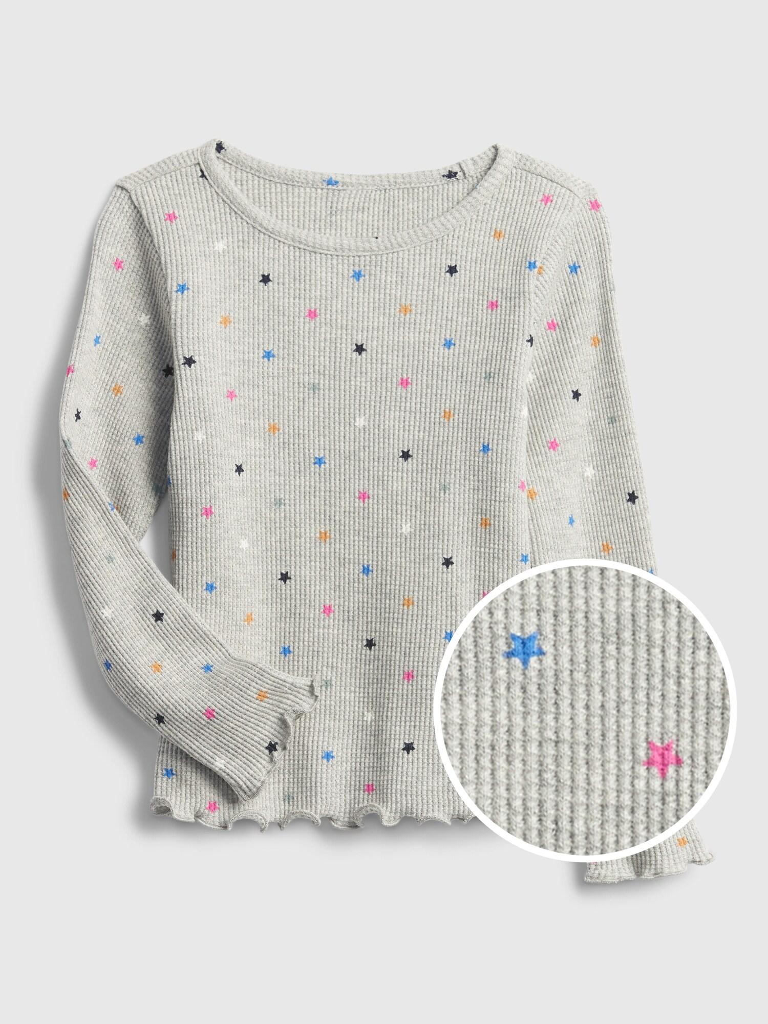 ワッフルニット プリントtシャツ (幼児)