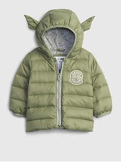 갭 여아용 푸퍼 자켓 babyGap | StarWars™ColdControl Puffer Jacket,walden green