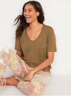 Oldnavy Short-Sleeve Voop Plush Easy T-Shirt for Women
