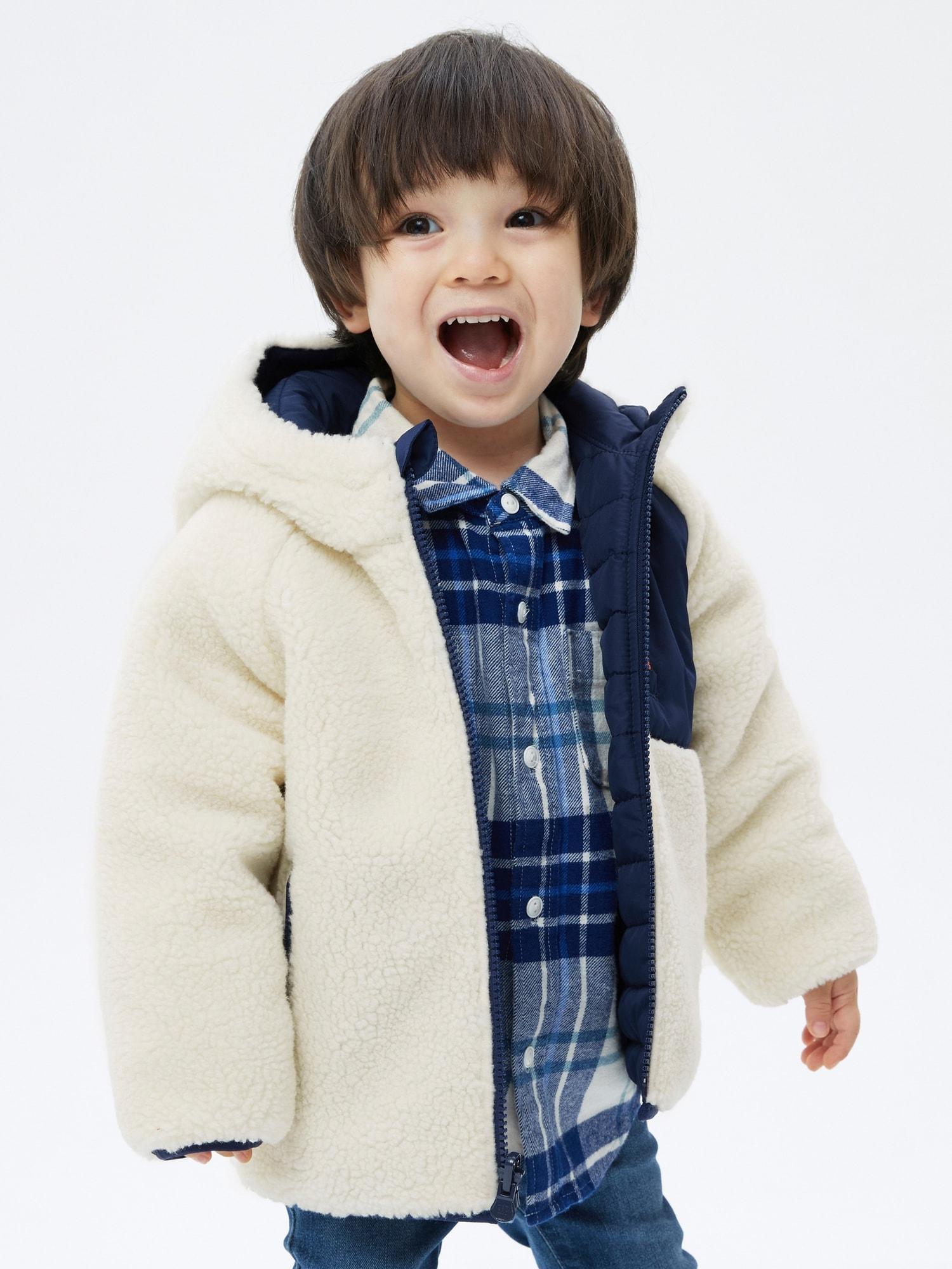 リバーシブル シェルパジャケット (幼児・ユニセックス)